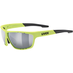 UVEX Sportstyle 706 Sportsbriller, neon yellow mat/silver